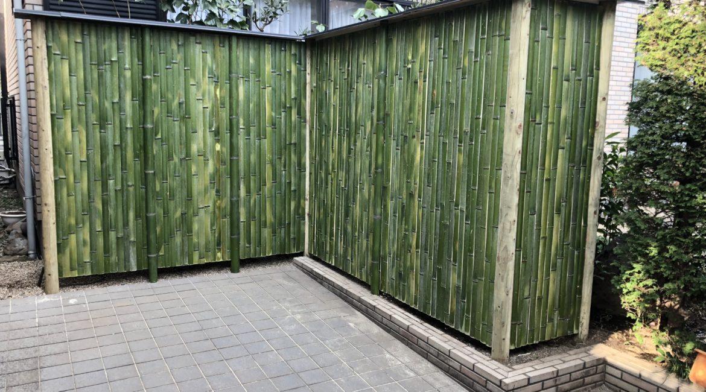 竹垣の作り変え
