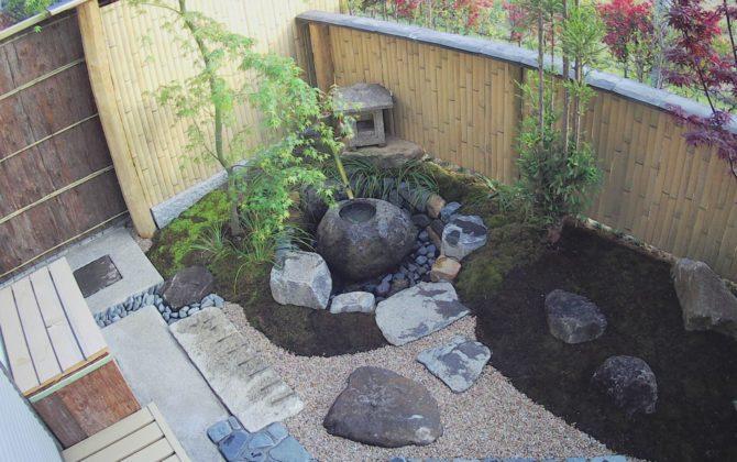 自然素材のお庭づくり